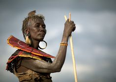 Pokot tribe old woman with a stick - Kenya by Eric Lafforgue, via Flickr