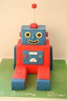 Robot cake elis 3rd birthday cake idea