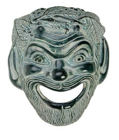 Photo about Ceramic Theatrical Mask Canon Studio Lights. Image of emotions, nobody, entertainment - 22783004 Greek Plays, Satyr, Theatre, Canon, Lion Sculpture, Costume, Mood, Lights, Stock Photos