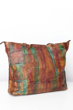 POL PAINTED SQUARE PATCHWORK LEATHER BTOTE BAG