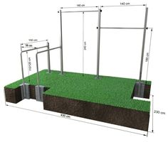 Dip Buin Duo Calisthenics-Station für Outdoor-Fitness am Dip-Barren