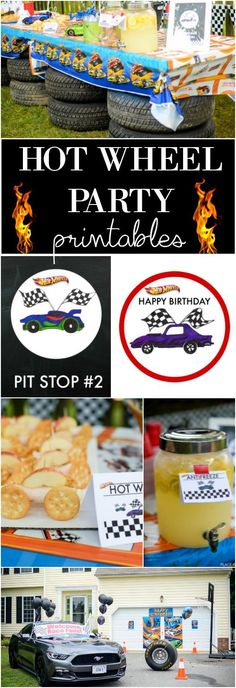 What a fun HOT WHEEL PARTY. Great party idea for boys!! Get your FREE printables!