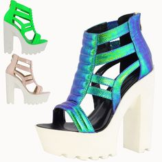 Free Shipping Hot Fashion Punk Summer style Ultral Sexy Thick High heel platform Pumps 3  Neon color 14CM Women Party Sandals-in Women's Pumps from Shoes on Aliexpress.com | Alibaba Group