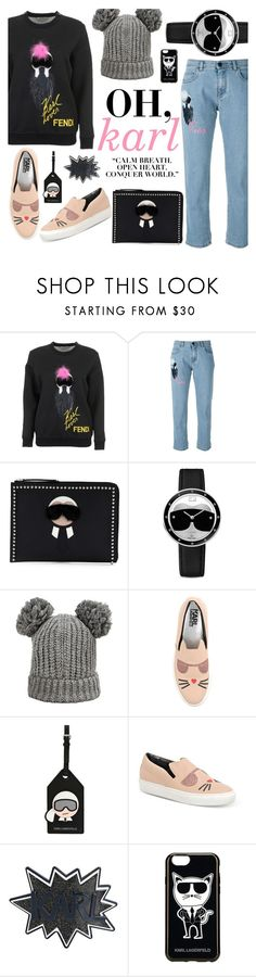 """Conquer the World, Karl."" by alexandrazeres ❤ liked on Polyvore featuring Fendi, Karl Lagerfeld, fendi, karllagerfeld, conquerworld and karlito"