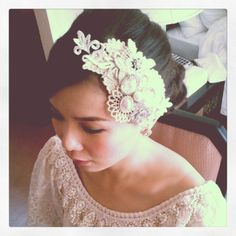 wedding headpieces from lace collars - Google Search
