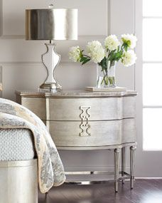 Shop Hadleigh Three-Drawer Nightstand from Hooker Furniture at Horchow, where you'll find new lower shipping on hundreds of home furnishings and gifts. Painted Bedroom Furniture, Grey Furniture, Hooker Furniture, Apartment Furniture, Shabby Chic Furniture, Bedroom Decor, Kitchen Furniture, Blue Bedroom, Bedroom Ideas