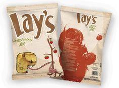 Lay's chips single serve flexible packaging bags.  #sachet #plastiques #plastic #bags #pillow #single #serve #emballage  #zip  #sacs#souple #packaging