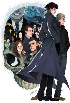 Sherlock - Reapersun  I seriously love fanart