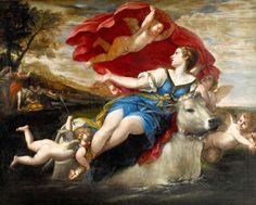 Francesco Albani. Jupiter in the shape of a bull carrying off Europa.