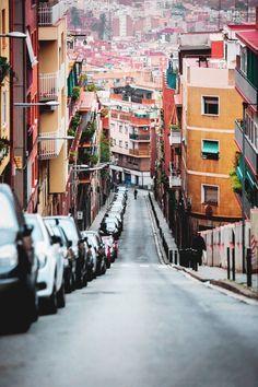 Street in Horta, Barcelona, Spain