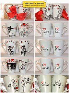 Celebraciones Caseras: tazas personalizadas para san valentín