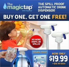 Order The Magic Tap® Drink Dispenser; Now!