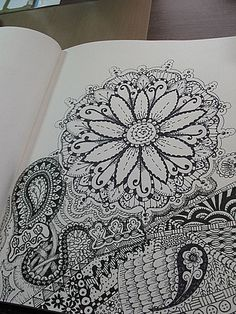 I want to start zen doodling. It's so relaxing and freeing.  anniebeezart: Zen doodles
