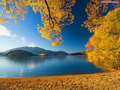 Jezioro, Góry, Jesień