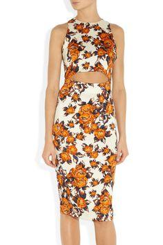 Suno Floral-print stretch-silk dress NET-A-PORTER.COM