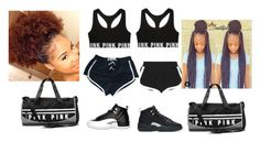 """Going to the gym with BFF"" by janiyahmartin ❤ liked on Polyvore featuring beauty, Fendi, NIKE, Victoria's Secret, My Mum Made It and Retrò"