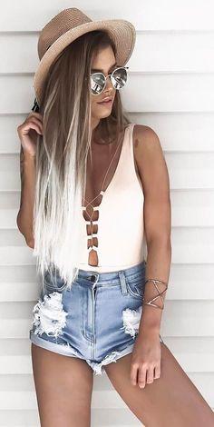 Idée et inspiration look d'été tendance 2017 Image Description cute summer outfit