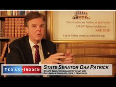 CANDIDATE DAN PATRICK   FOR LT GOV of TX  - Describes what  Dewhurst did before  WENDY DAVIS' FILIBUSTER.    Dewhurst, a republican, APPOINTS  DEMOCRATS TO HEAD UP HIS  COMMITTEES -- 12/13 ▶ Texas Talk: Dan Patrick, State Senator & Lt. Gov. Candidate Makes His Case