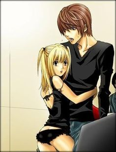 Misa, please puts some pants on or something. Death Note Kira, Death Note Fanart, Death Note Light, Misa Amane Cosplay, Amane Misa, Light And Misa, Manhwa, Best Animes Ever, Anime Love Couple