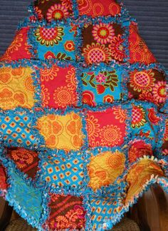 Free US Shipping Ooh La La Rag Quilt Ready to by onasmallscale, $75.00
