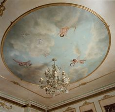 baroque period | Baroque influenced mural for a grand master bedroom.