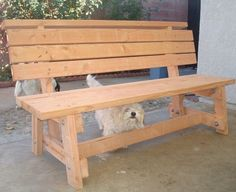 Simple Wooden Bench   garden bench seat built from a buildeazy plan