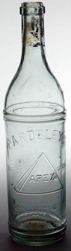 Bardsley's Apex, Sydney. Vintage 1920s Cordial bottle.