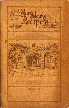Front Cover of the old New Orleans cookbook.