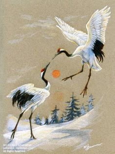 Image result for long crane paintings