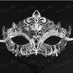 ... Luxury Silver,Black,Gold 3 Colors Elegant Metal Laser Cut Venetian Halloween Ball Masquerade ...