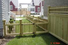 attractive gates for entrance to back yard | Side Yard Fence