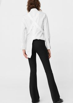 Chalk-stripe trousers | MANGO
