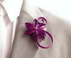 Boutonniere Cassis Boutonniere Berry Buttonhole by LoveAccented
