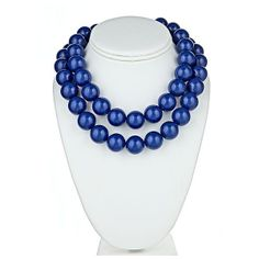 The Candy Collection Necklace in Navy found on Polyvore