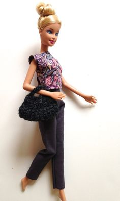 Handmade Barbie Clothes Pant Set by All4U on Etsy, SPECIAL $5.50