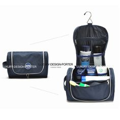 2490094c258a Aliexpress.com   Buy Spacious Hanging Navy Toiletry Bag Cosmetic Bag  Traveling Case with hook Free shipping from Reliable case laptop bag  suppliers on ...