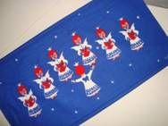 Retro Christmas danish wall textile signed NL (NINA LANGEBÆK) - 1970es. Material is cotton. 25 x 47 cm.  #retro #danish #christmas #textile #1970 #dansk #jul #tekstil #ophaeng #langebaek. SOLGT.