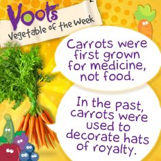 Fun facts about #carrots, the Voots Vegetable of the Week