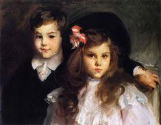 John Singer Sargent 1906 Violet Sargent Ormond's Children Conrad (1898-1979) and Reine (1897-1971) Conrad 1906