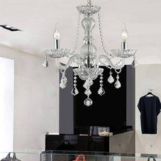 Foto 1 - Lustre Brigit Cristal Vidro E Metal Transparente - Premier Iluminação-Bivolt