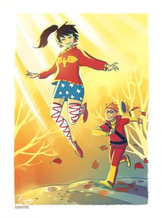 Wonder Girl & Speedy by Hanie Mohd