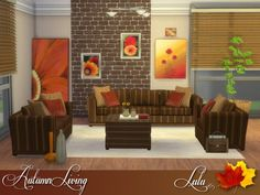 The Sims Resource: Autumn Living by Lulu265 • Sims 4 Downloads