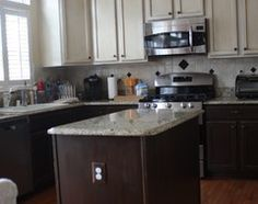 Painted Kitchen Cabinets Two Different Colors : Upper cabinets, Cabinets and Google search on Pinterest