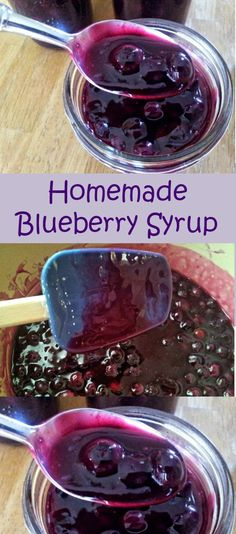 Homemade blueberry syrup. This amazingly easy and delicious syrup takes just four ingredients and less than a half hour start to finish. You'll never buy syrup again!