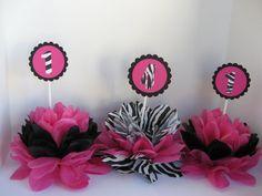 zebra print table decorations