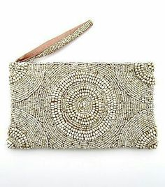 Fun beaded purse, large enough for your essentials but small enough for your bag or use as a clutch. Beaded Clutch, Beaded Purses, Beaded Bags, Vintage Glam, My Bags, Purses And Bags, Pochette Diy, Bridal Accessories, Fashion Accessories