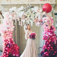 Balloons Photography Ideas For Your Wedding ★ balloon photo ideas ballon wedding arch Wedding Ceremony Ideas, Wedding Arches, Ceremony Backdrop, Wedding Balloon Decorations, Wedding Balloons, Dream Wedding, Wedding Day, Wedding Dress, Wedding Blog