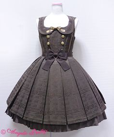 Ribbon Chocolate Collared JSK (jumper skirt/pinafore) designed by Angelic Pretty