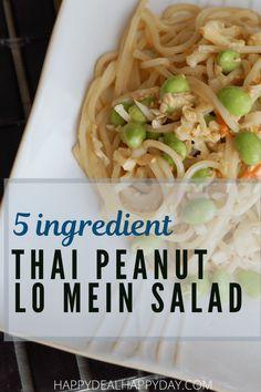 Easy Salad Recipes, Easy Salads, Thai Recipes, Easy Chicken Recipes, Quick Recipes, Healthy Dinner Recipes, Frugal Recipes, Asian Salads, Summer Recipes