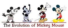 Evolution of ღ Mickey Mouse. #disney #mickeymouse #artwork http://www.pinterest.com/TheHitman14/disney-t-pins-%2B/